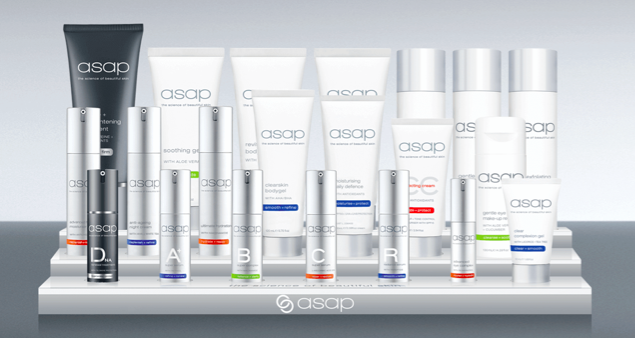 asap skin care range products